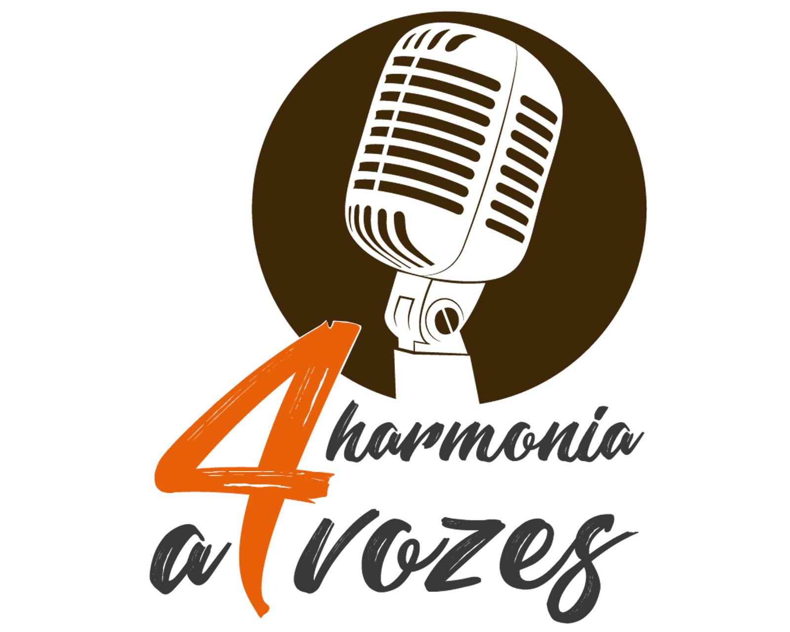 LOGOMARCA HARMONIA A 4 VOZES
